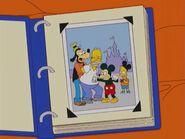 The Simpsons Photo of the Simpson Family at Disneyland