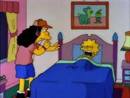 Lisa screams loudly bedroom