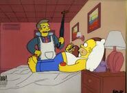 Homer and skinner in apartment