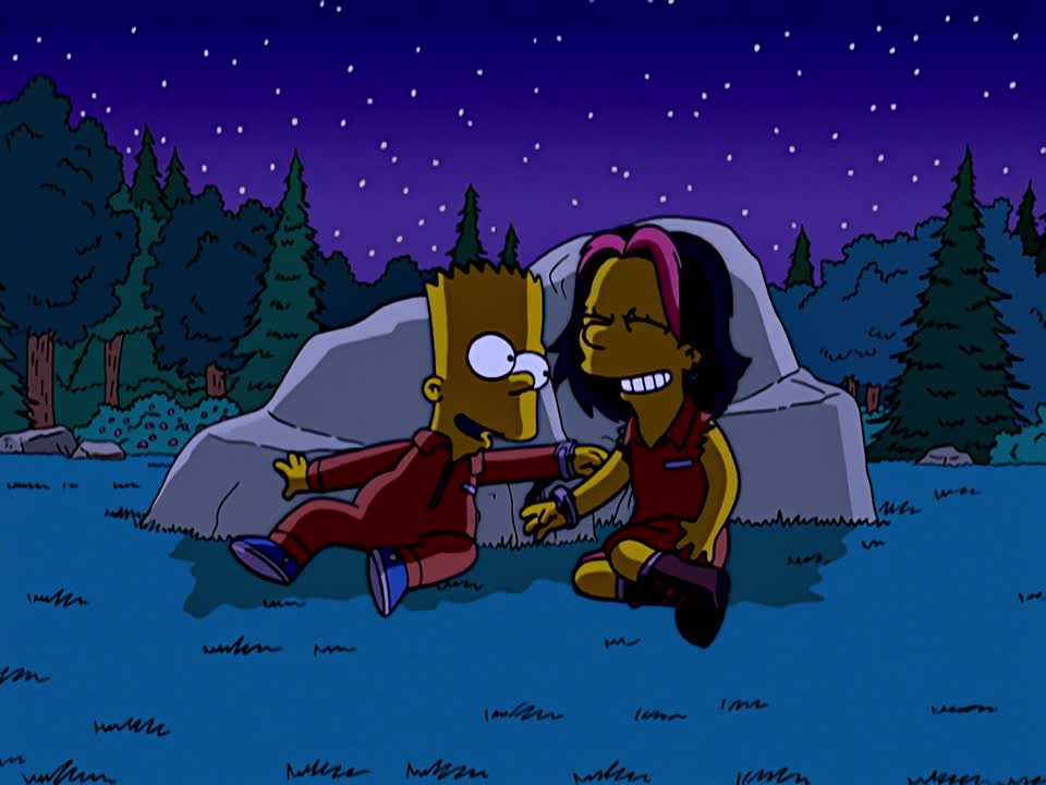 Image - Bart and Gina Pinching Each Other.JPG   Simpsons