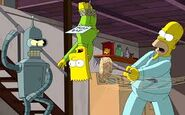 Bart getting punched up by homer and bender