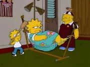 Lisa simpson in hammock