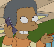 Lewis on a cellphone
