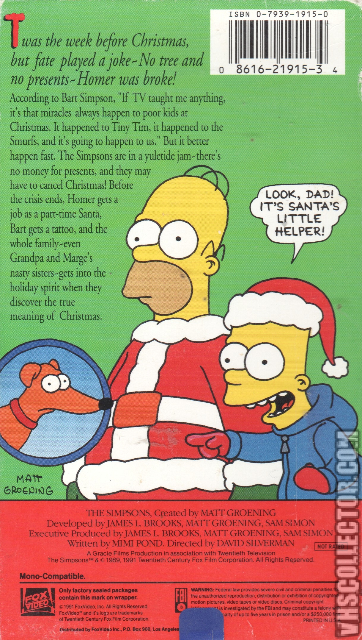 The Simpsons Christmas Special (Video) | Simpsons Wiki | FANDOM ...