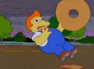 Lard Lad Dies After Homer Stops Looking At Him