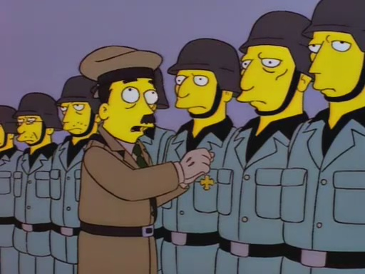 File:Adolf Hitler Raging Abe Simpson and His Grumbling Grandson in The Curse of the Flying Hellfish.jpg