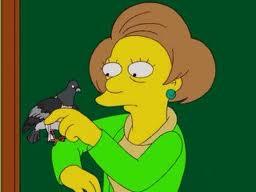 Edna seeing the pigean