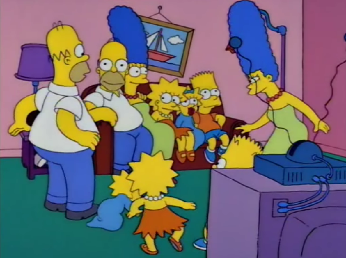 duplicate family couch gag simpsons wiki fandom