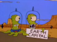 Kang And Kodos Are Newly Weds And Are Trying To Hitch A Lift To The Earth Capital