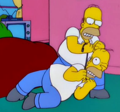 File:Homer imposter vs Homer.png