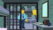 Burns in jail