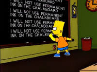 I will not use permanent ink on the chalkboard