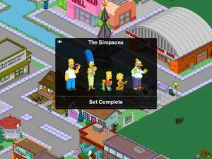 Simpsons Family Unlock Screen