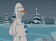 The Simpsons Homer as Olaf from Frozen