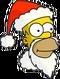 Santa Homer Icon