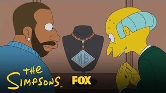 Mr. Burns Splashes His Cash And Flings The Bling Season 28 Ep. 12 THE SIMPSONS