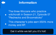 The Wiccans info bubble