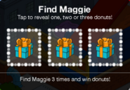 Find Maggie Donut boxes