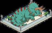 Triceratops Statue Menu