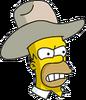 Cowboy Homer Angry Icon