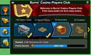 Players Club Points Prize Screen
