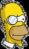 Evil Homer Monocle Icon