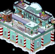 North Pole Station Flipped Snow Menu