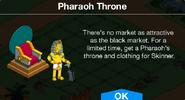 Pharaoh Throne Notification