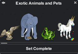 Exotic Animals and Pets Character Collection 1