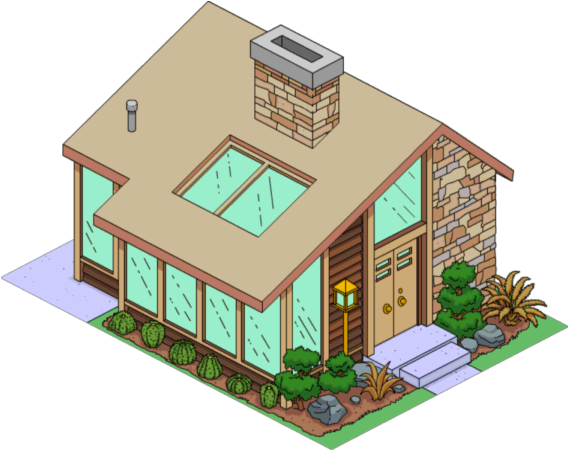 Cool Brown House The Simpsons Tapped Out Wiki Fandom