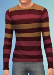 YmTop SweaterCrewBasicStripes StripesRed