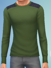 YmTop SweaterCrewBasic GreenArmy