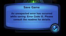 Error Code 13