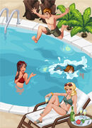 Sims Social - Promo Picture - Pool Party Preview for May