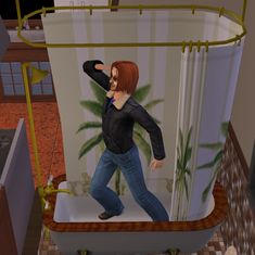 Bathtub pirate captain