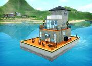 Houseboat island paradise