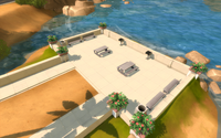 Oasis Springs Commercial District Barbecues And Benches