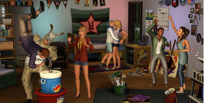 Sims juice party