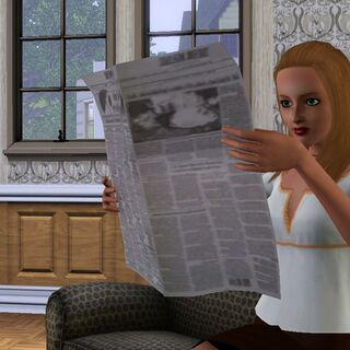 Персонаж читает газету в <i><a href=