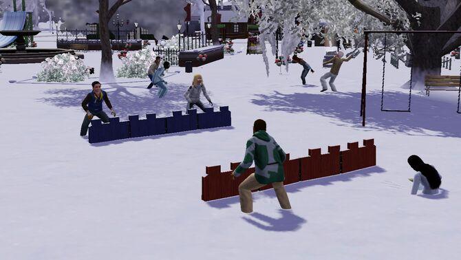 Festival winter - snowball fight