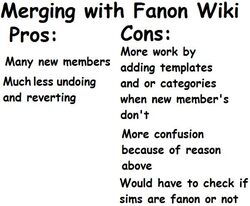 Pros and Cons of Merging with Fanon Wiki