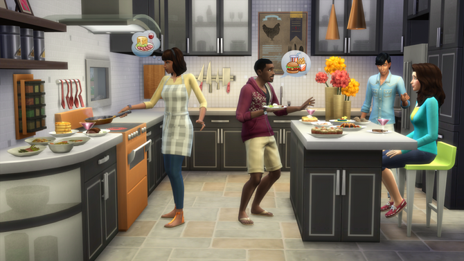 TS4 cool kitchen