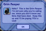 Cranky Grim Reaper message