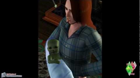 Les sims 3 Saisons Gunter having Alien baby