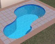 Curved pool