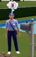 Frank Renaldo delivering mail