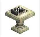 Ts1 king head outdoor chess table