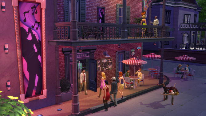 The sims 4 restaurant