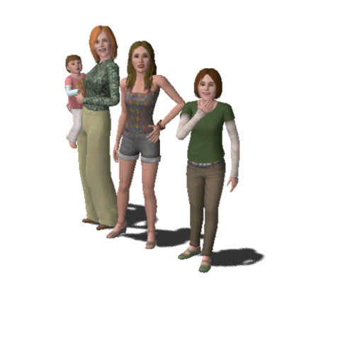 File:Single Moms Household Family (The Sims 3).png