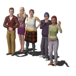 Roomies Household Family (The Sims 3)